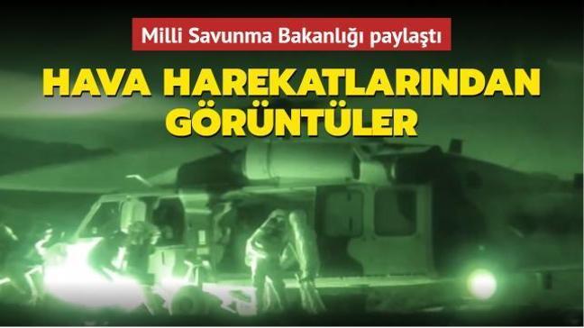 Milli Savunma Bakanlığı paylaştı... Komandolarımızın hava hücum harekâtlarından görüntüler
