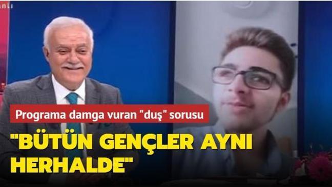 """Nihat Hatipoğlu'na yöneltilen """"duş"""" sorusu sosyal medyada çok konuşuldu"""