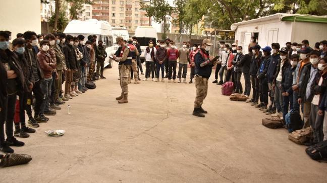 101 kaçak göçmen Şanlıurfa'da 3 minibüste yakalandı