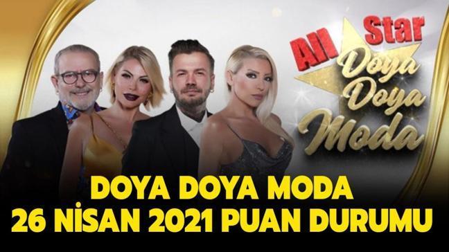Doya Doya Moda 26 Nisan 2021 puan durumu burada!