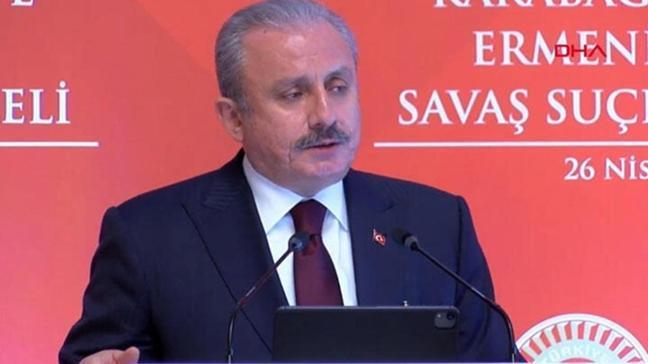 """TBMM Başkanı Şentop'tan """"soykırım"""" açıklaması: Türkiye'ye bir zararı yok"""