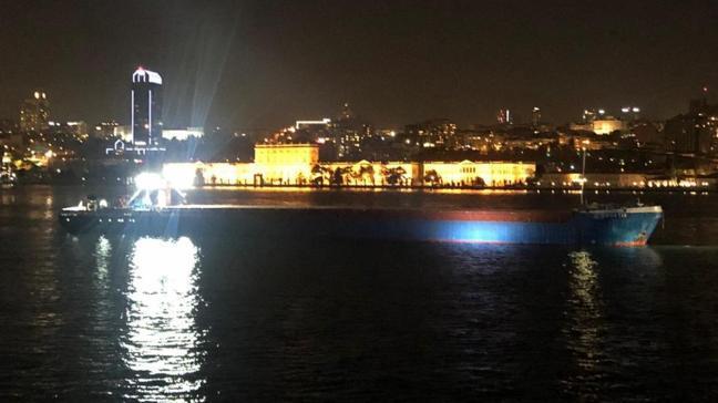 Yük gemisi İstanbul Boğazı'nda makine arızası yaptı