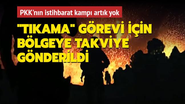 Terör örgütü PKK'nın istihbarat kampı yok edildi