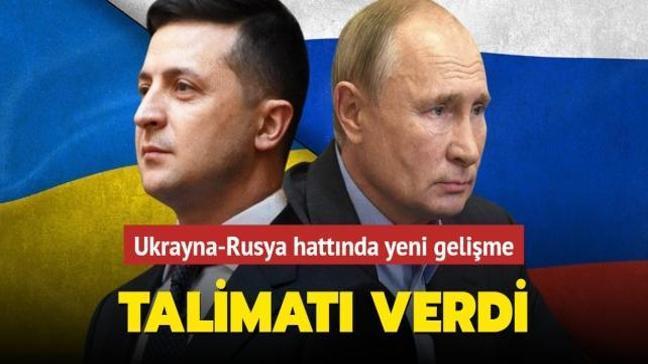 Ukrayna-Rusya hattında yeni gelişme! Zelenskiy talimatı verdi