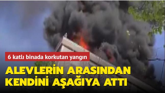 Bağcılar'da korkutan yangın: 6 katlı binanın çatısı bir anda alev aldı!