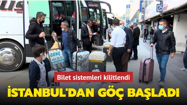 İstanbul'da otogarda yoğunluk: Bilet sistemleri kilitlendi
