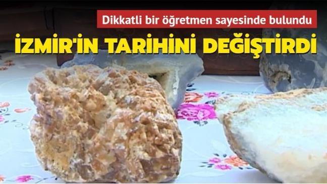 Parkta bulduğu taşla İzmir'in tarihini değiştirdi