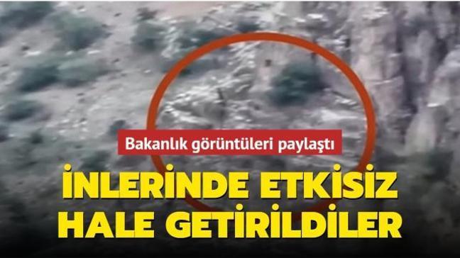 Son dakika haberi: Pençe-Yıldırım operasyonunda mağaraya gizlenen 3 PKK'lı etkisiz hale getirildi