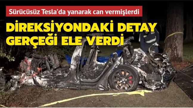 Sürücüsüz Tesla kazasında sürücü koltuğunun boş olmadığı ortaya çıktı