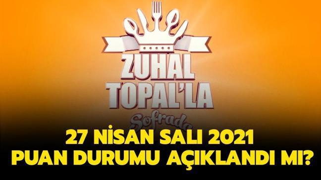 Zuhal Topal'la Sofrada 27 Nisan puan durumu açıklandı! İşte dünün puan durumu...