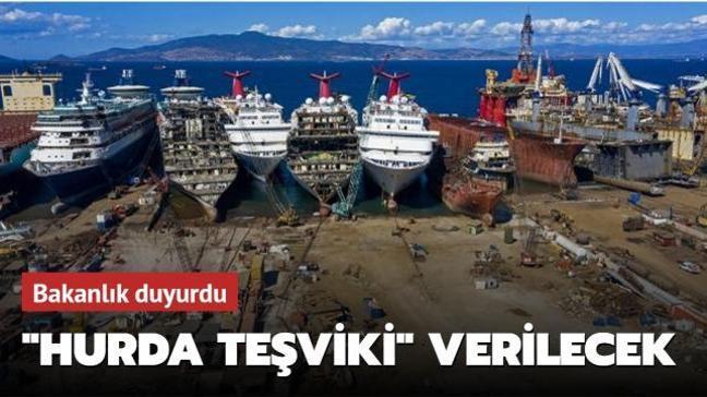 """Bakanlık duyurdu: Yeni yapılacak gemiler için """"hurda teşviki"""" verilecek"""