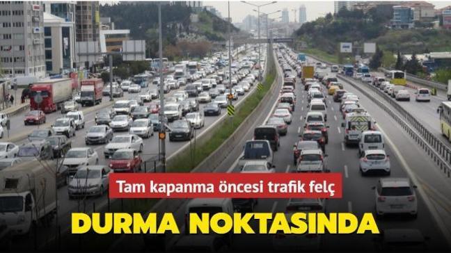 İstanbul'dan kaçış başladı: Tam kapanma öncesi trafik yoğunluğu