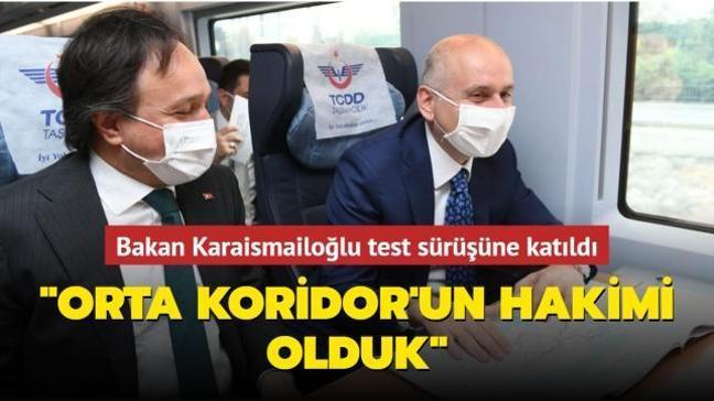 Bakan Karaismailoğlu Konya-Karaman hızlı tren hattının test sürüşüne katıldı
