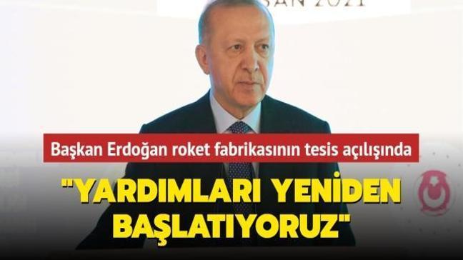 Başkan Erdoğan roket fabrikasının tesis açılışında konuştu