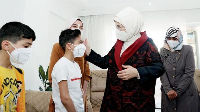 Suriyeli aileye sürpriz ziyaret