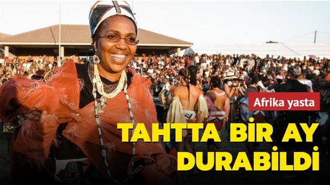 1 ay önce tahta çıkan Zulu Kraliçesi Dlamini-Zulu hayatını kaybetti