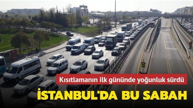 İstanbul'da kısıtlamaya rağmen trafik yoğunluğu