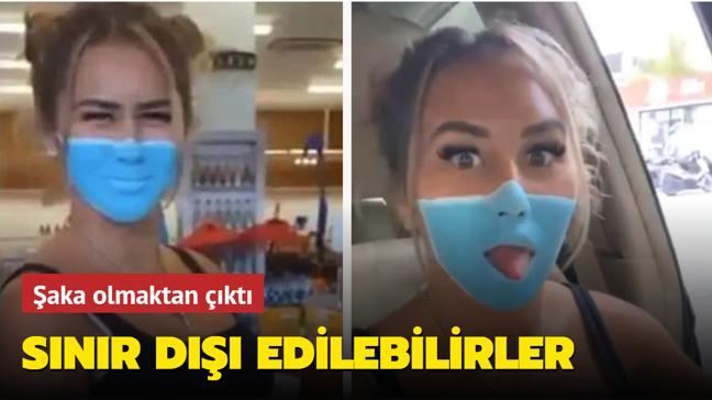 Maske videosuyla sosyal medyayı sallayan YouTuber'lar sınır dışı edilebilir