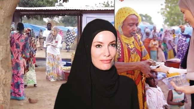 Gamze Özçelik, Afrika'da iftar verdi