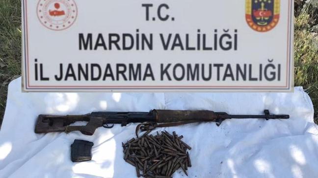 Mardin'de operasyon: PKK'lı teröristlerin kullandığı depo kullanılamaz hale getirildi