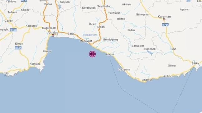 Son dakika deprem haberleri: Alanya'da 4.0 büyüklüğünde deprem