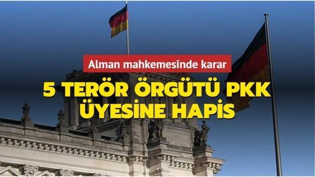 Almanya'da 5 terör örgütü PKK üyesine hapis