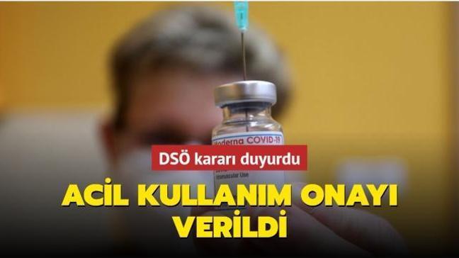 """DSÖ'den """"Moderna"""" Covid-19 aşısına acil kullanım onayı"""