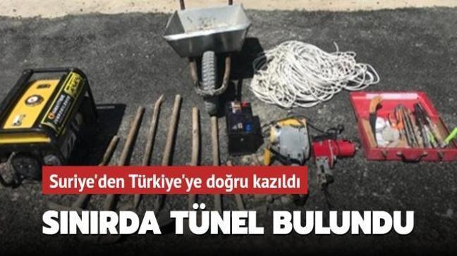 MSB: Suriye'den Türkiye'ye doğru kazılan tünel bulundu