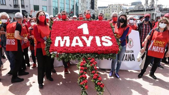 Sendikalardan Taksim'e 1 Mayıs çelengi