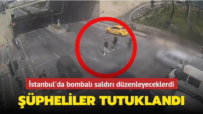 İstanbul'da bombalı saldırı girişimi şüphelilerine tutuklama