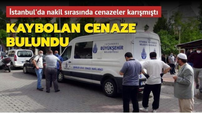 İstanbul'da nakil sırasında kaybolan cenaze bulundu