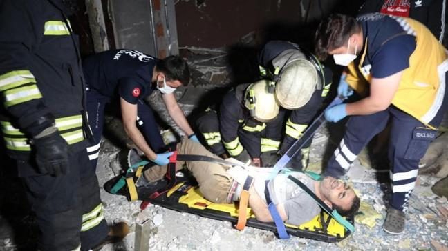 1'inci kattan Hurda toplarken düşen adam ağır yaralandı