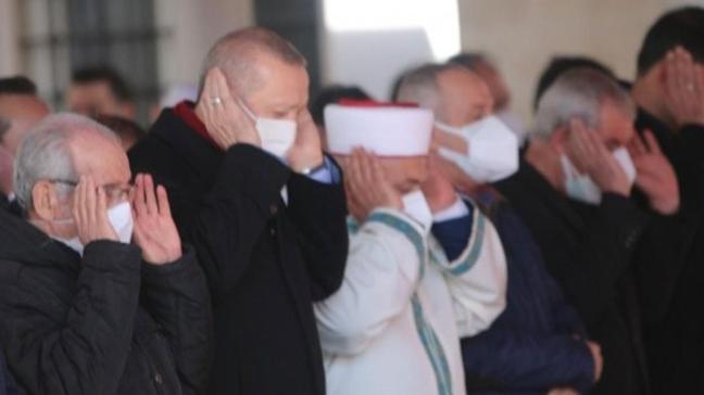 Başkan Erdoğan Yıldırım'ın cenazesine katıldı