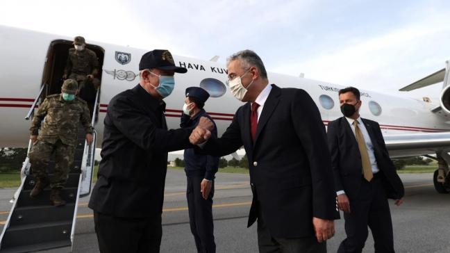 Milli Savunma Bakanı Akar Muharip Hava Kuvveti Komutanlığının bulunduğu Eskişehir'de