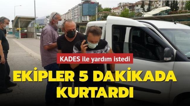 KADES ile yardım istedi: Ekipler 5 dakikada kurtardı