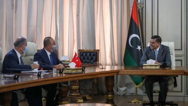 Akar ve Çavuşoğlu Libya Başbakanı Dibeybe ile görüştü