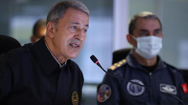 Bakan Akar: Biri sözde bölge sorumlusu 7 terörist daha etkisiz hale getirildi