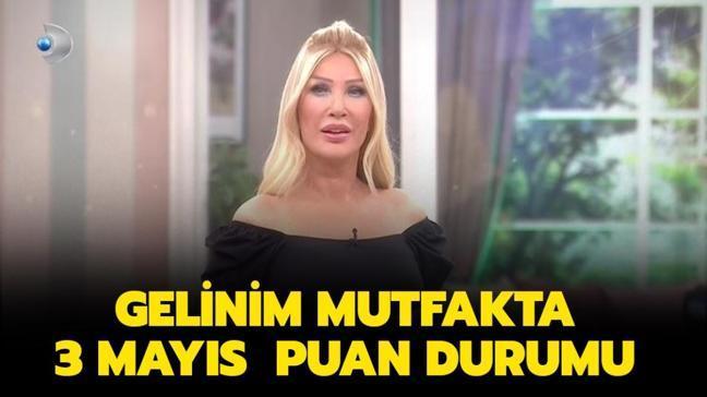 """Dün Gelinim Mutfakta gün birincisi kim oldu"""" Gelinim Mutfakta 3 Mayıs puan durumu..."""