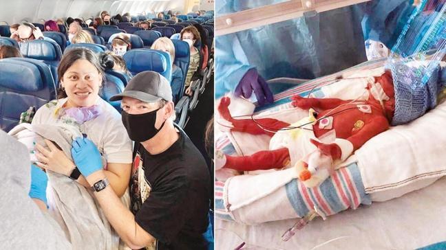 Uçakta sürpriz doğum
