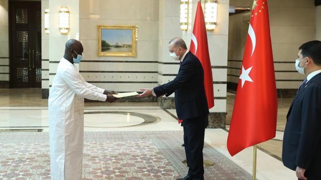 Başkan Erdoğan, Gine Bissau'nun Ankara Büyükelçisi Mane'yi kabul etti