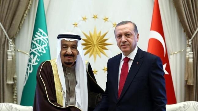 Başkan Erdoğan Suudi Kral Selman ile görüştü