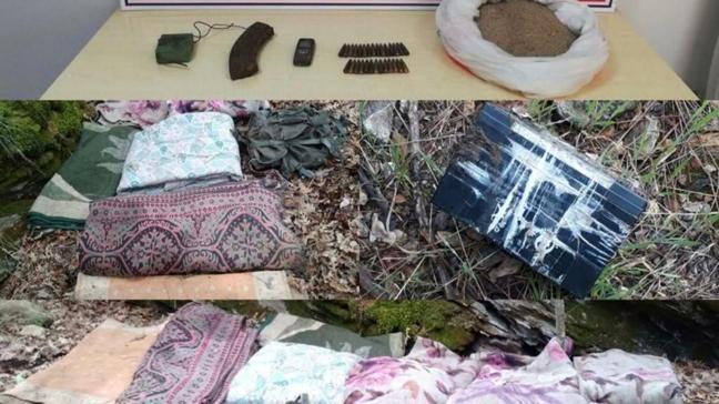 Osmaniye'de terör örgütü PKK operasyonu... Mühimmat ve yaşam malzemesi ele geçirildi