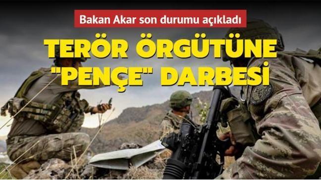 Son dakika haberi: Bakan Akar'dan Pençe-Yıldırım ve Pençe-Şimşek açıklaması: 68 terörist etkisiz hale getirildi