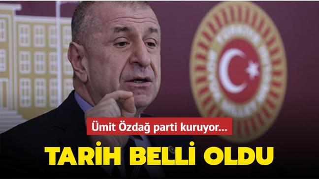 İYİ Parti'den istifa eden Ümit Özdağ  haziran ayında parti kuruyor