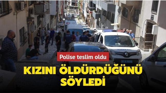 İzmir'de polise teslim olan anne kızını boğarak öldürdüğünü söyledi