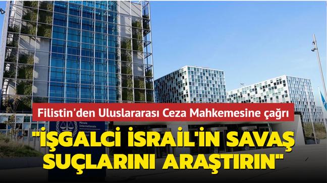 """Filistin'den Uluslararası Ceza Mahkemesine çağrı: """"İşgalci İsrail'in savaş suçlarını araştırın"""""""
