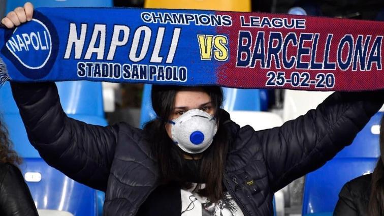 Barcelona Napoli karşılaşması seyircisiz oynanacak