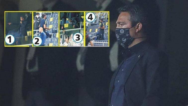 Ali Koç'un devre arasında Volkan Demirel'e talimat vermesi dikkatlerden kaçmadı