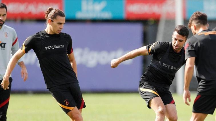 Galatasaray'da Taylan Antalyalı ve Radamel Falcao takımla çalıştı