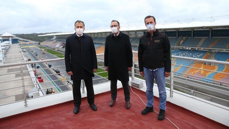 Gençlik ve Spor Bakanı Kasapoğlu ve İstanbul Valisi Yerlikaya, İstanbul Park'ta incelemelerde bulundu